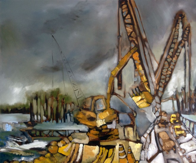Martin's Point Construction Painting. Portland, Maine